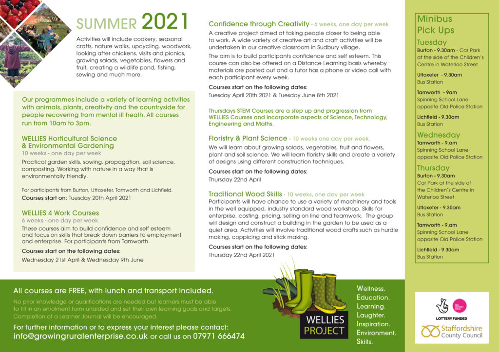 Summer Courses at the WELLIES Project